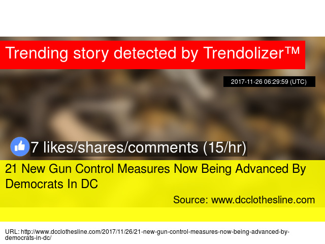 Dc Clothesline Cool The DC Clothesline 60 New Gun Control Measures Now Being Advanced